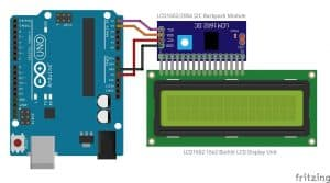 How to use backlit LCD display with Arduino and I2C backpack module